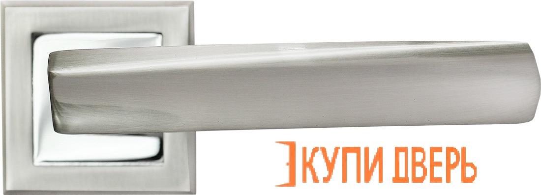 Ручка дверная RAP 11-S SN/CP Белый никель/Хром