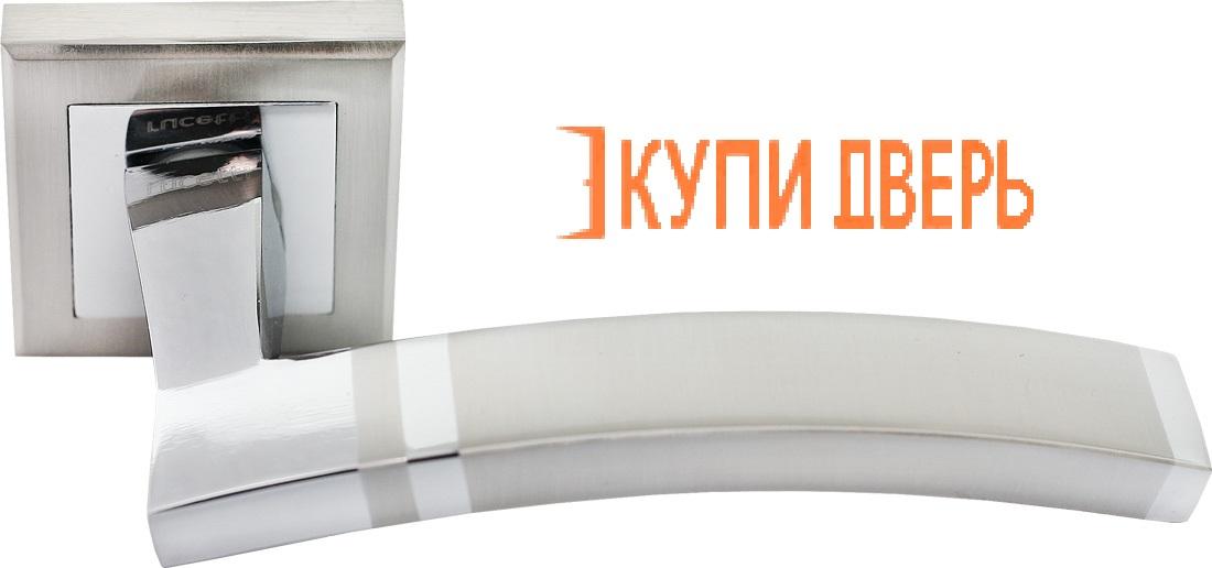 Ручка дверная RAP 13-S SN/CP Белый никель/Хром