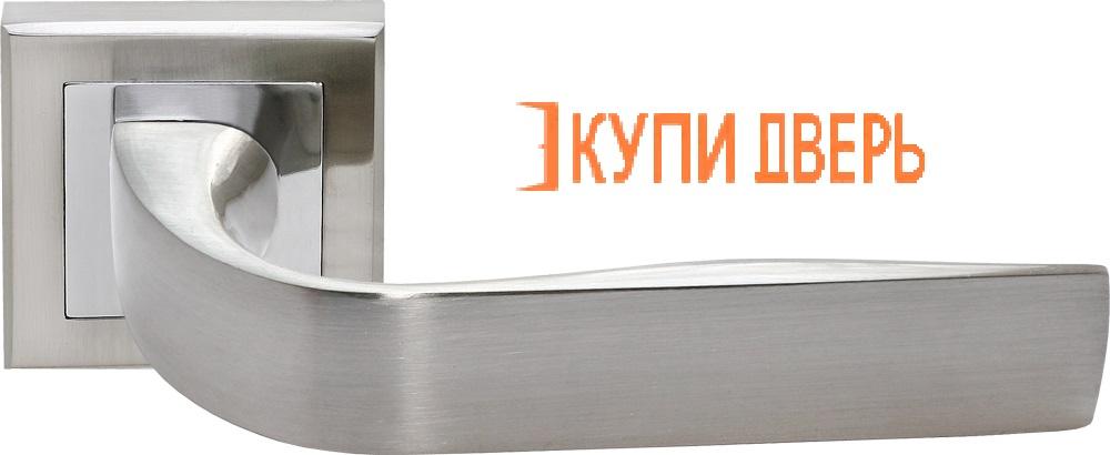 Ручка дверная RAP 15-S SN/CP Белый никель/Хром