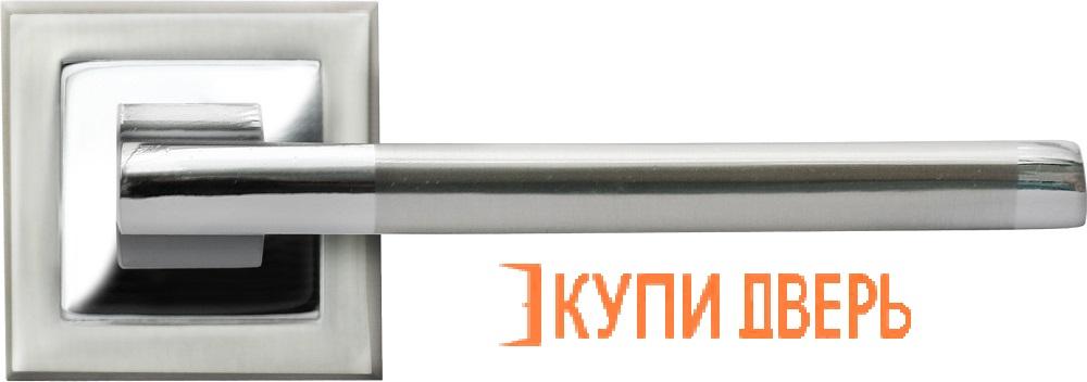 Ручка дверная RAP 17-S SN/CP Белый никель/Хром