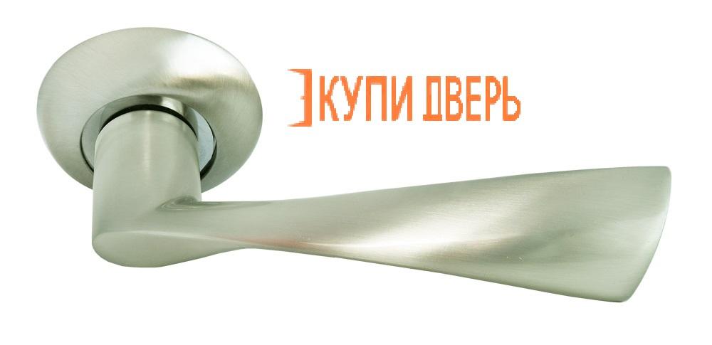 Ручка дверная RAP 1 SN/CP Белый никель/Хром