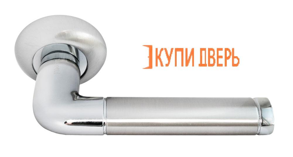 Ручка дверная RAP 2 SN/CP Белый никель/Хром