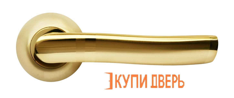 Ручка дверная RAP 3 SG/GP Матовое золото/Золото