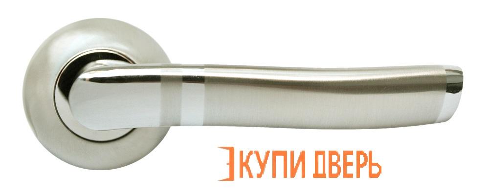 Ручка дверная RAP 3 SN/CP Белый никель/Хром
