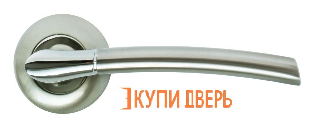 Ручка дверная RAP 6 SN/CP Белый никель/Хром