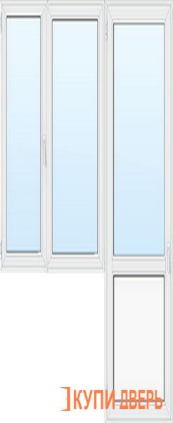 Балконная группа 3 стекла