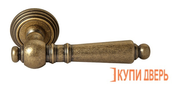Ручка дверная RAP-CLASSIC-L 8 OMB Старая Матовая Бронза