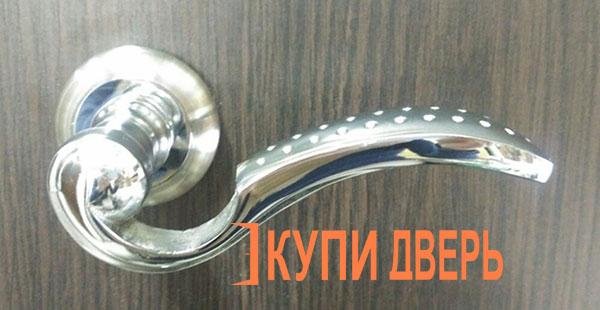Дверная ручка Ромула хром (никель)